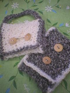 毛糸で小物作り